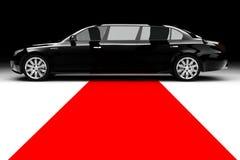 Schwarze Limousine Lizenzfreie Stockfotografie