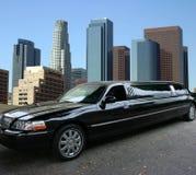 Schwarze Limousine in Los Angeles Stockfotos