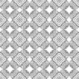 Schwarze Linie nahtloses Muster des indischen geometrischen Mosaiks stock abbildung