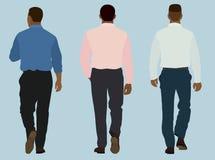Schwarze Männer, die weg gehen Stockbild