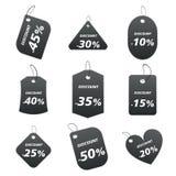 Schwarze Marken - Rabatt Lizenzfreie Stockfotos
