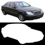 Schwarze Mercedes-Limousine Lizenzfreie Stockbilder