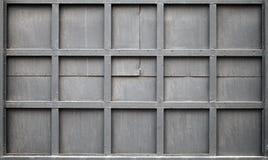 Schwarze Metallwand, Hintergrundfotobeschaffenheit Lizenzfreies Stockbild
