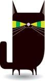 Schwarze Miezekatze (Katze) Lizenzfreies Stockbild