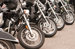 Schwarze Motorräder Stockfotos