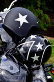 Schwarze Motorrad-Sturzhelme Stockbilder