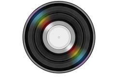 Schwarze Musikaufzeichnung mit farbigem Regenbogenreflexionslicht Lizenzfreie Stockbilder