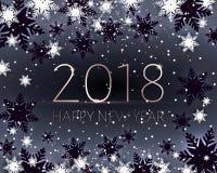 Schwarze neue Jahre Fahne Gold-Aufschrift 2018 Stockbild