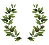 Schwarze Olive Wreath stock abbildung