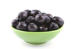 Schwarze Oliven Stockfoto