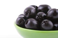 Schwarze Oliven lizenzfreies stockfoto