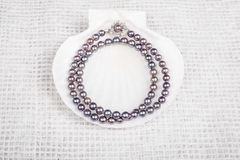 Schwarze Perlen-Halskette #3 lizenzfreies stockfoto