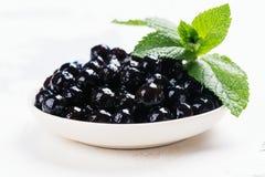 Schwarze Perlen von Tapioka lizenzfreie stockfotografie
