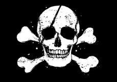 Schwarze Piratenmarkierungsfahne Stockfotos