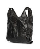 Schwarze Plastiktasche Stockbilder
