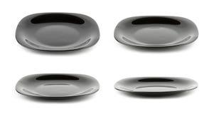 Schwarze Platte getrennt auf Weiß Lizenzfreie Stockfotos