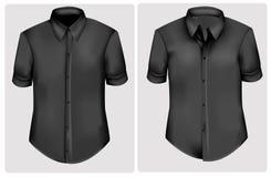Schwarze Polohemden. Stockbilder