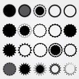 Schwarze Preissammlung. Verschiedene Arten. Stockbilder