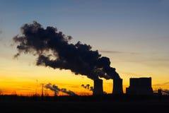 Schwarze Pumpe Sonnenuntergang Stockfotografie