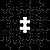 Schwarze Puzzlespiele raster Stockfotos