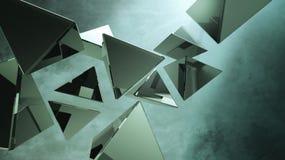 Schwarze Pyramiden 3D Stockbilder