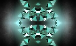 Schwarze Pyramiden 3D Stockfotos