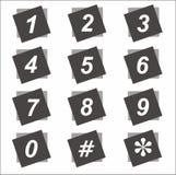 Schwarze quadratische Zahl lizenzfreies stockfoto