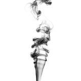 Schwarze Rauchstrudel Stockfoto