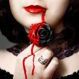 Schwarze Rose Stockfotografie