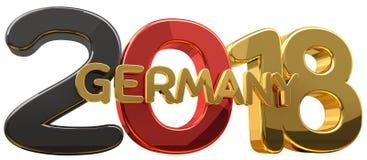 schwarze rote goldene 3d Wiedergabe 2018 Deutschlands Lizenzfreie Stockbilder