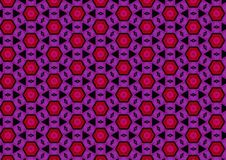 Schwarze rote purpurrote Muster stock abbildung