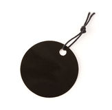 Schwarze runde Papp-Preisschildanmerkung Stockbilder