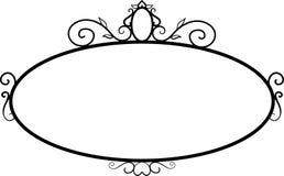 Schwarze runde Weinleserahmen, Gestaltungselemente Skizzenhand gezeichnet Dekorativer Rand vektor abbildung