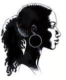 Schwarze Schönheit vektor abbildung