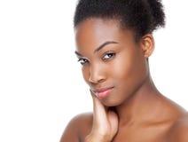 Schwarze Schönheit mit perfekter Haut Lizenzfreie Stockbilder