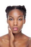 Schwarze Schönheit mit perfekter Haut Stockbilder