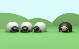 Schwarze Schafe Stockfoto