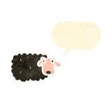schwarze Schafe der Retro- Karikatur Lizenzfreie Stockbilder