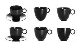 Schwarze Schale lokalisiert auf einem weißen Hintergrund Lizenzfreie Stockfotografie