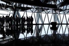 Schwarze Schattenbilder der Gruppe von Personen Lizenzfreie Stockbilder