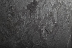 Schwarze Schieferfelsen-Hintergrundbeschaffenheit Stockbilder