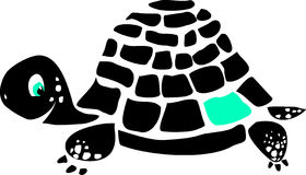 Schwarze Schildkröte Lizenzfreies Stockbild