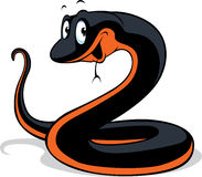 Schwarze Schlangenkarikatur Lizenzfreie Stockfotografie