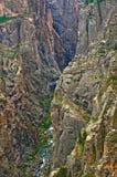 Schwarze Schlucht des Gunnison, Fluss-Ansicht Lizenzfreie Stockbilder