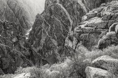 Schwarze Schlucht des Gunnison malte Wand-Ansicht stockbilder
