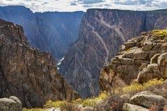 Schwarze Schlucht des Gunnison Nationalparks stockfotos