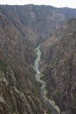 Schwarze Schlucht des Nationalparks Gunnison, nahe Montrose, Colorado, USA Stockbilder