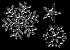 Schwarze Schneeflocken stock abbildung