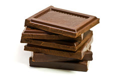 Schwarze Schokolade Lizenzfreies Stockfoto