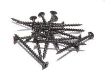Schwarze Schrauben Stockbild